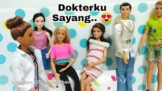 Dokterku Sayang 😍 Dokter Barbie Hamil n Melahirkan 😁 Cerita Pendek Lucu Mainan Boneka Edukasi