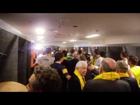 Socceroos celebrate in the dressing rooms - Fox Sports Australia