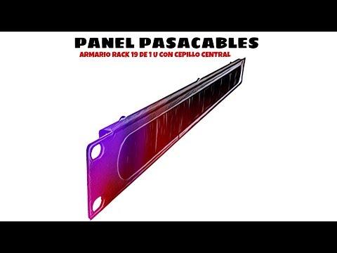 Video de Panel pasacables armario rack 19 de 1U con cepillo central  Negro