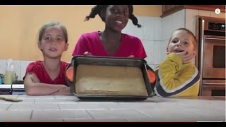 How To Make Sweet Golden Corn Bread - Cooking By Kids