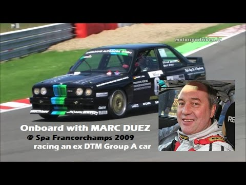 Onboard with Marc Duez 2009 @ Spa in an ex DTM M3 from 1987 (Vogelsang)