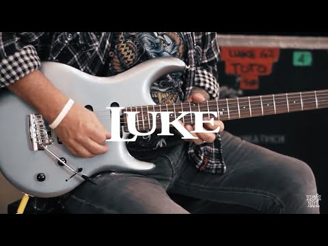 Steve Lukather demos his Ernie Ball Music Man LUKE Electric Guitar