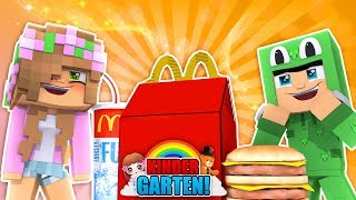 KINDERGARTENERS GO TO MCDONALDS! Minecraft Kindergarten | Little Kelly