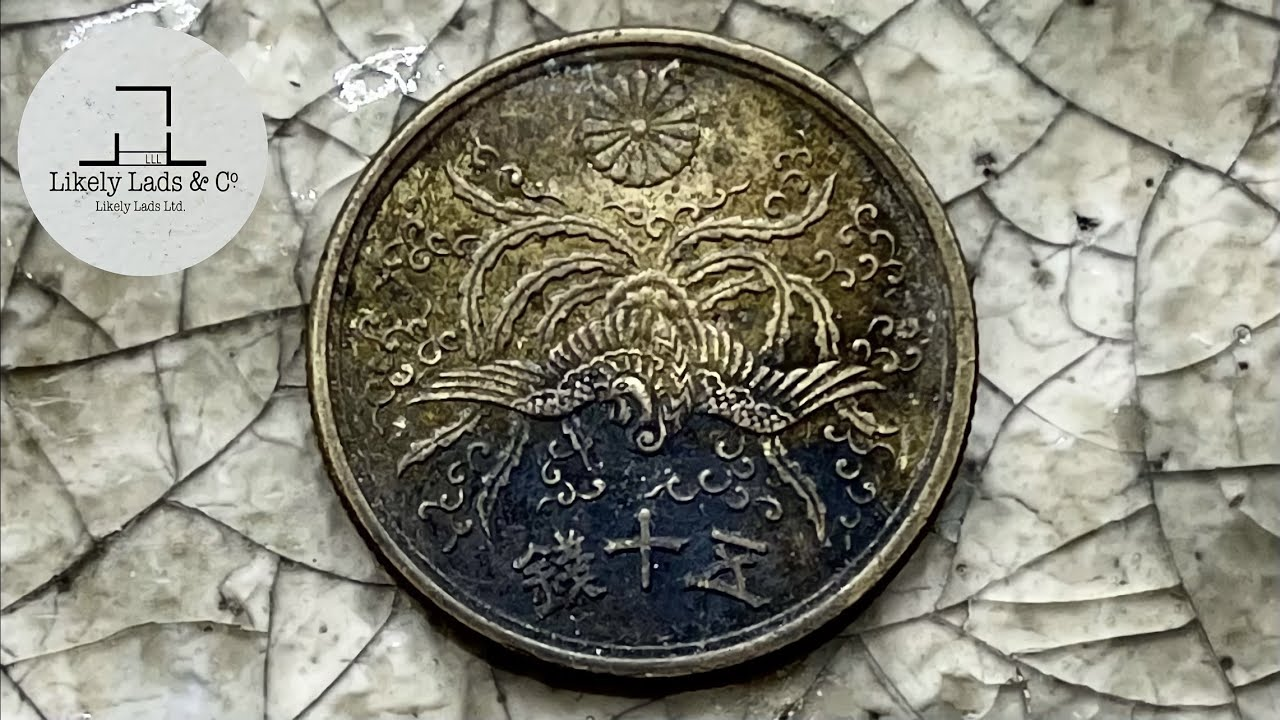 Restoration Old Coins - Phoenix 不死鳥のコイン磨き 鳳凰柄50銭鏡面仕上げ Time Lapse ASMR