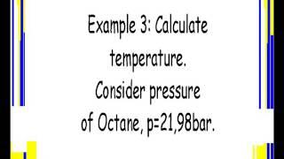OCTANE: PRESSURE AND TEMPERATURE