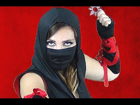 FEMALE NINJA // Costume Makeup (HOW-TO) - YouTube