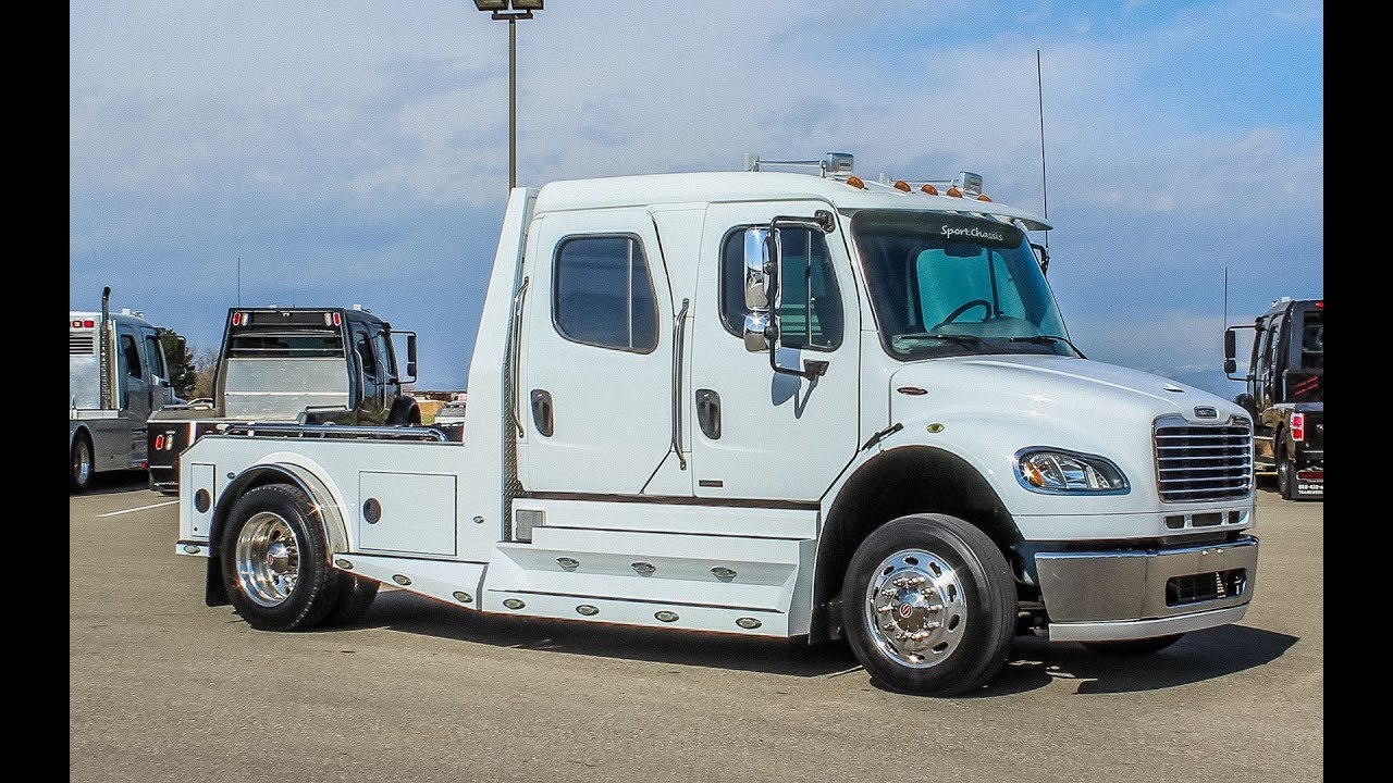 2012 freightliner m2 106 sport chassis hauler transwest truck trailer rv stock 5u180404  [ 1280 x 720 Pixel ]