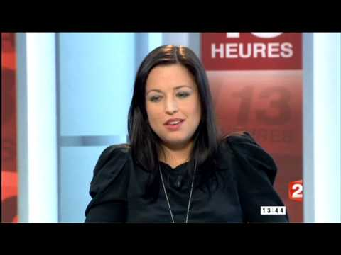 Natasha St Pier interprète Hallelujah au JT de 13H sur France 2 - 1 mars 2010