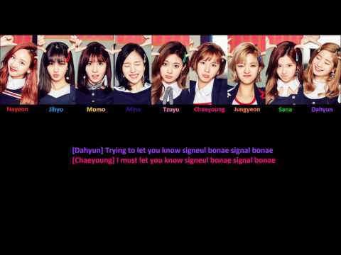 [MP3/DL] Twice - Signal (Version 2: Completely Rearranged) + Color Coded Lyrics
