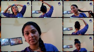 MY HAIR ROUTINE BEFORE GOING TO BED &MY FAVORITE HAIR STYLES FOR SLEEPING IN TELUGU