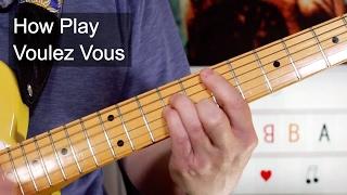 'voulez vous' abba guitar lesson