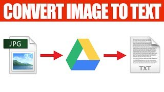 How to Convert Image to Text for free with Google Drive
