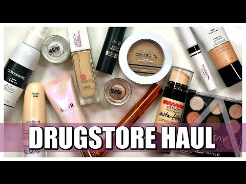 NEW MAKEUP AT THE DRUGSTORE HAUL | 2018