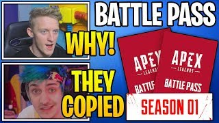 Streamers *SHOCKED* Apex Legends COPIED Fortnite's Battle Pass!