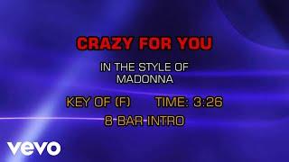 Madonna - Crazy For You (Karaoke)
