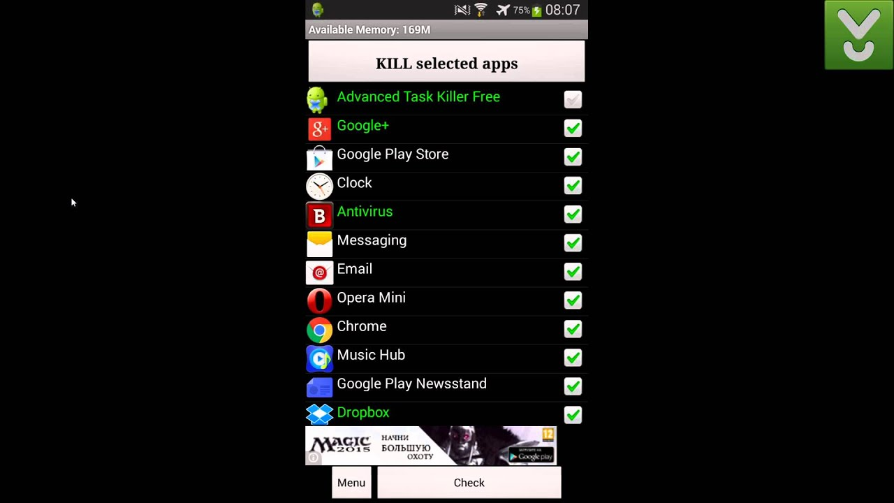Advanced Task Killer – Kill unnecessary apps and running tasks – Download Video Previews