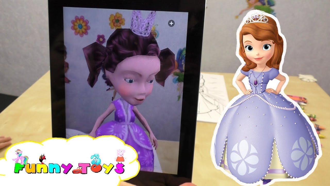 Princessa Sofia 3D Раскраска Принцесса София и ее друзья ...