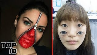 Top 10 Scary Makeup That Looks Too Real