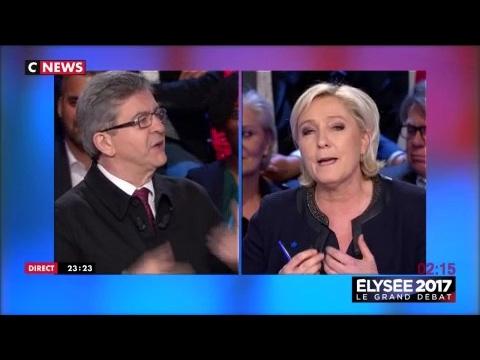Clash entre Jean-Luc Melenchon et Marine Le Pen au sujet des crèches
