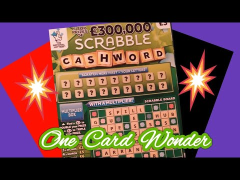 SCRABBLE CASHWORD....on Our ..     Our One Card Wonder Game