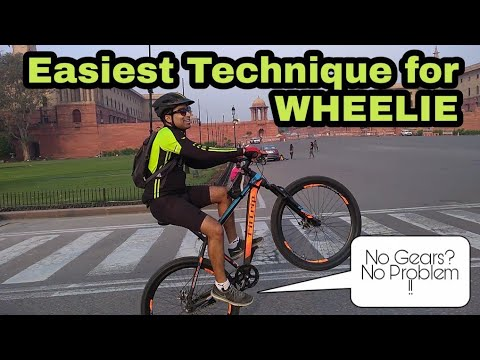 How to Wheelie a Bicycle Which Does not Have GEARS ! 🔥🔥🔥