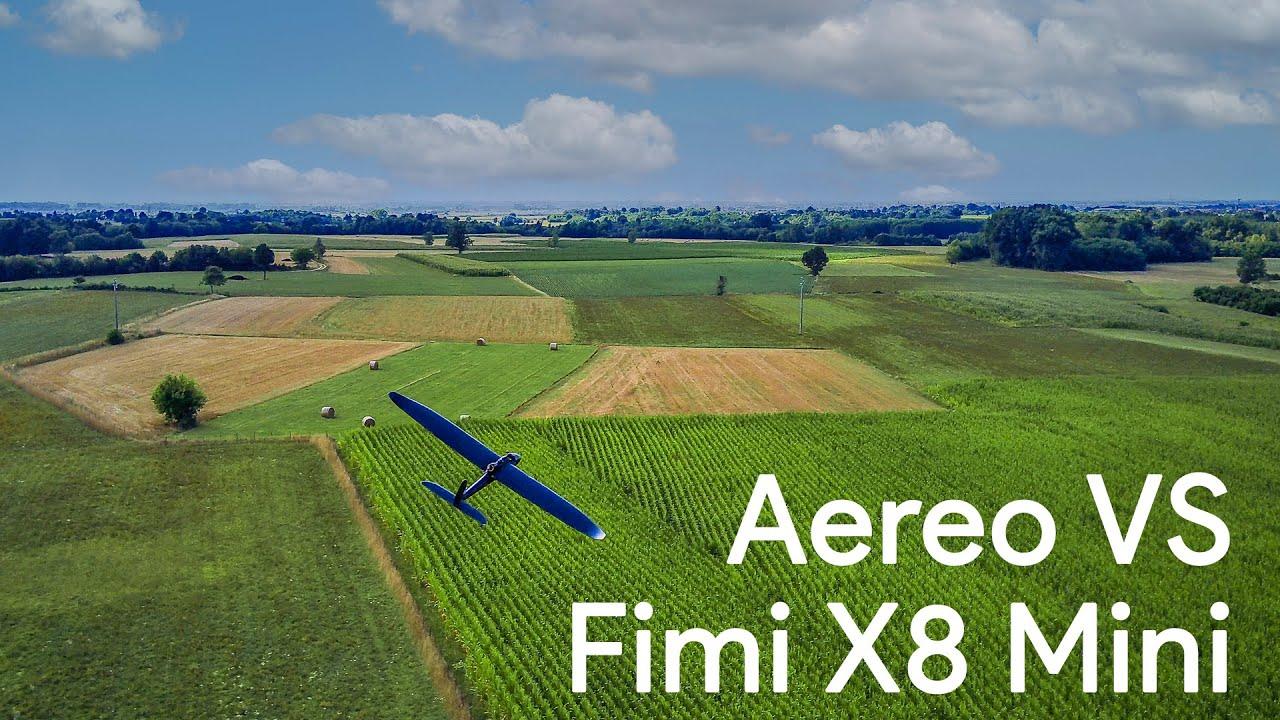 INSEGUIMENTO TRA DRONE E AEREO  con Fimi X8 Mini