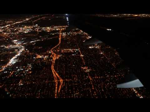 Landing in Tampa Airport at night