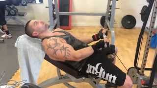 biceps barre poulie basse sur banc incliner 80kg