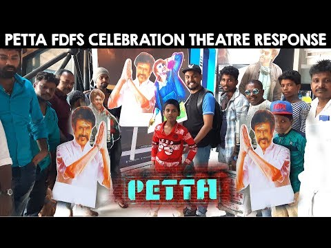Petta FDFS Celebration in Mumbai | Inside Theatre Respone | Superstar Rajinikanth | Karthik Subbaraj