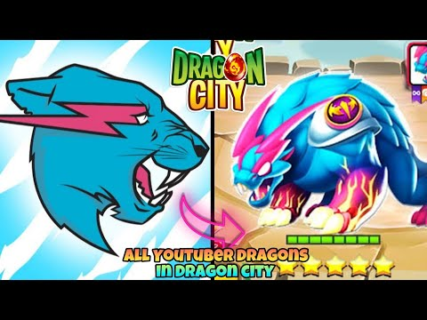 ALL YOUTUBER DRAGONS IN DRAGON CITY 2020
