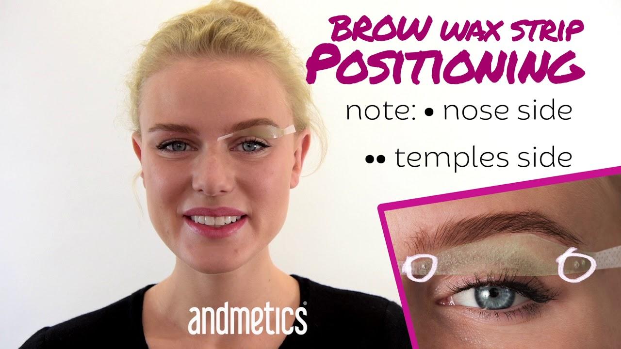 andmetics BROW Wax Strip Positioning Tutorial