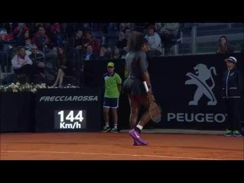2016 Internazionali BNL d'Italia Quarterfinal | Serena Williams vs Kuznetsova | WTA Highlights