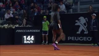 2016 Internazionali BNL dItalia Quarterfinal | Serena Williams vs Kuznetsova | WTA Highlights