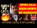 Aphria Calls Green Growth Brands Bid Highly Conditional and Inadequate