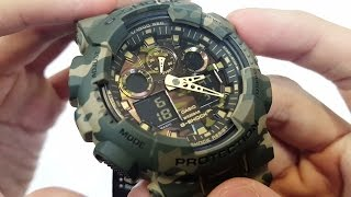 Casio G-shock military color GA-100CM-5A UNBOXING