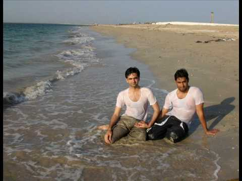Pakistani boys in the sea