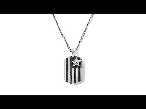King Baby Jewelry Sterling Silver Flag Pendant w/Chain