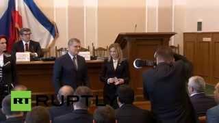 И.о. прокурора Крыма Наталья Поклонская получила удостоверение сотрудника российской прокуратуры