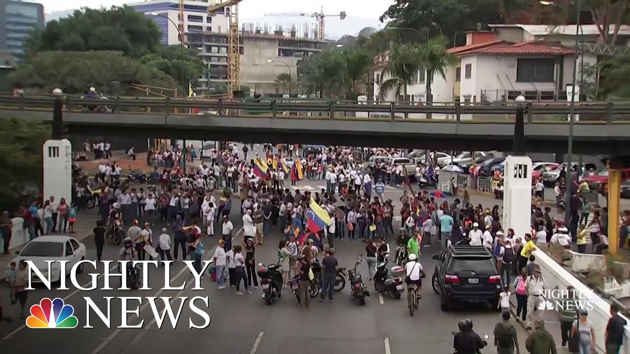 Protests In Venezuela As Humanitarian Crisis Deepens | NBC Nightly News