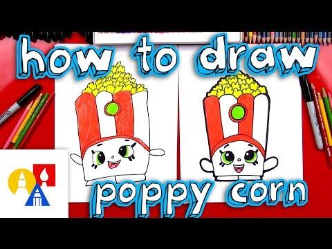 How To Draw Poppy Corn Shopkins