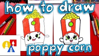 How To Draw Poppy Corn Shopkins - Toy Giveaway