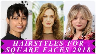 Latest short hairstyles for square faces female