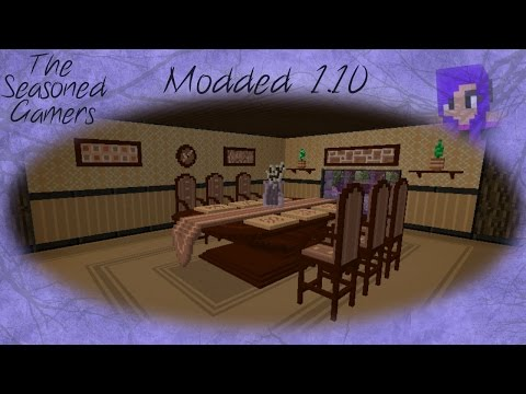 Modded Minecraft 1.10: The Seasoned gamers server, Chisel and bits dining room (Ep05)
