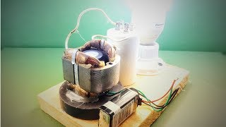 220V generator , Free energy , How to make new science experiment project 2018