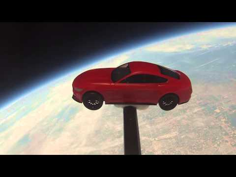 Watch a 2015 Ford Mustang Fly to (and Fall From) Space!