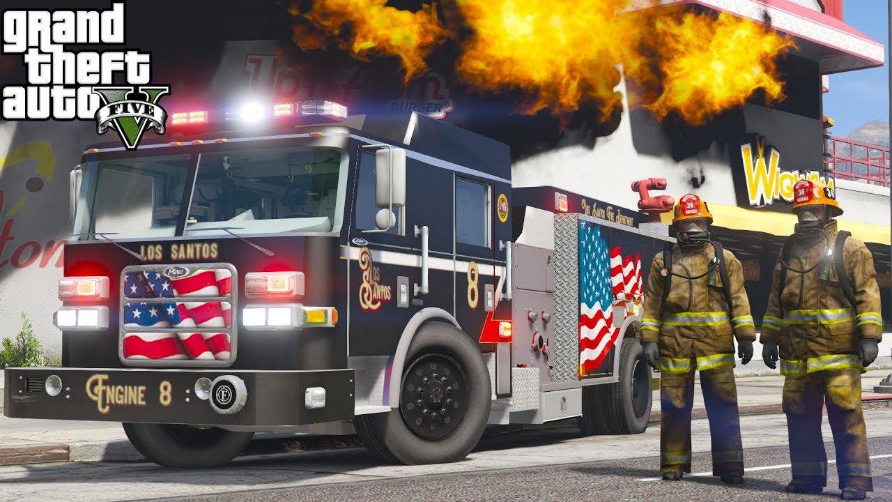 GTA 5 Firefighter Mod - Non Stop Fire Calls