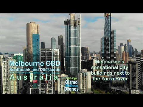 Melbourne CBD, Southbank And Docklands Buildings By Drone - Victoria, Australia