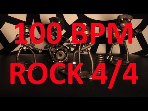 100 BPM - ROCK - 4/4 Drum Track - Metronome - Drum Beat