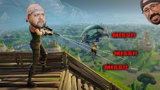 Joe can't aim! - Fortnite with Uncle Larry & Joe