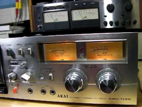 AKAI GXC-715D Made in 1978. Vintage cassette tape deck